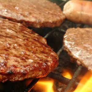 Burgers Cooking Barbecue - Hire spit roast catering company Melbourne