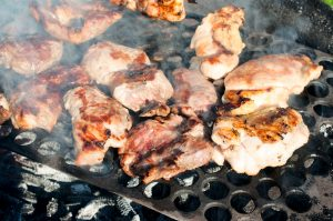 Bbq meat cooking on the grill - Gourmet BBQ Menu With Steak Melbourne