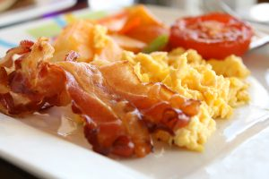 Bacon Eggs Tomato Breakfast