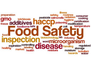 Food Safety and Hygiene Word Cloud Diagram